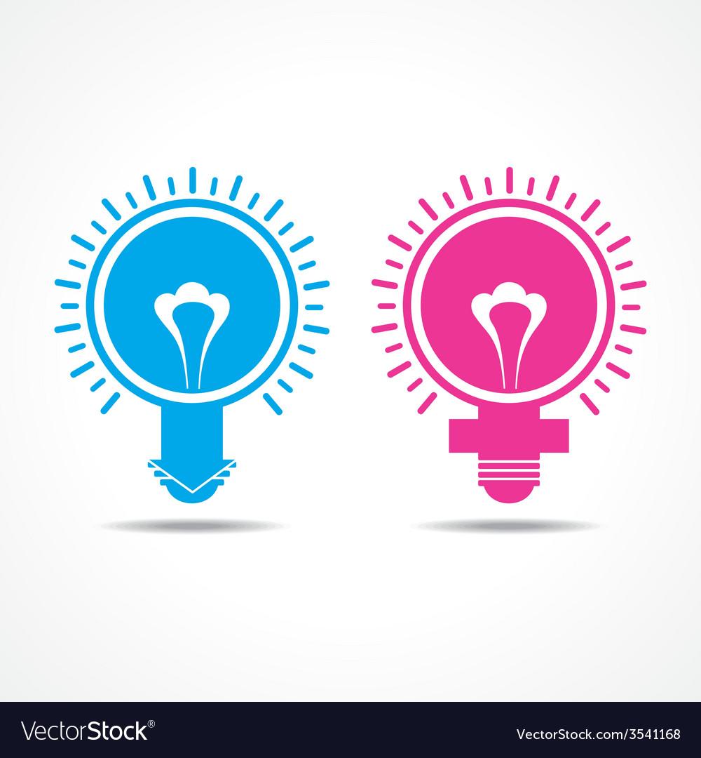 Male Female Symbol Make Light Bulb Royalty Free Vector Image