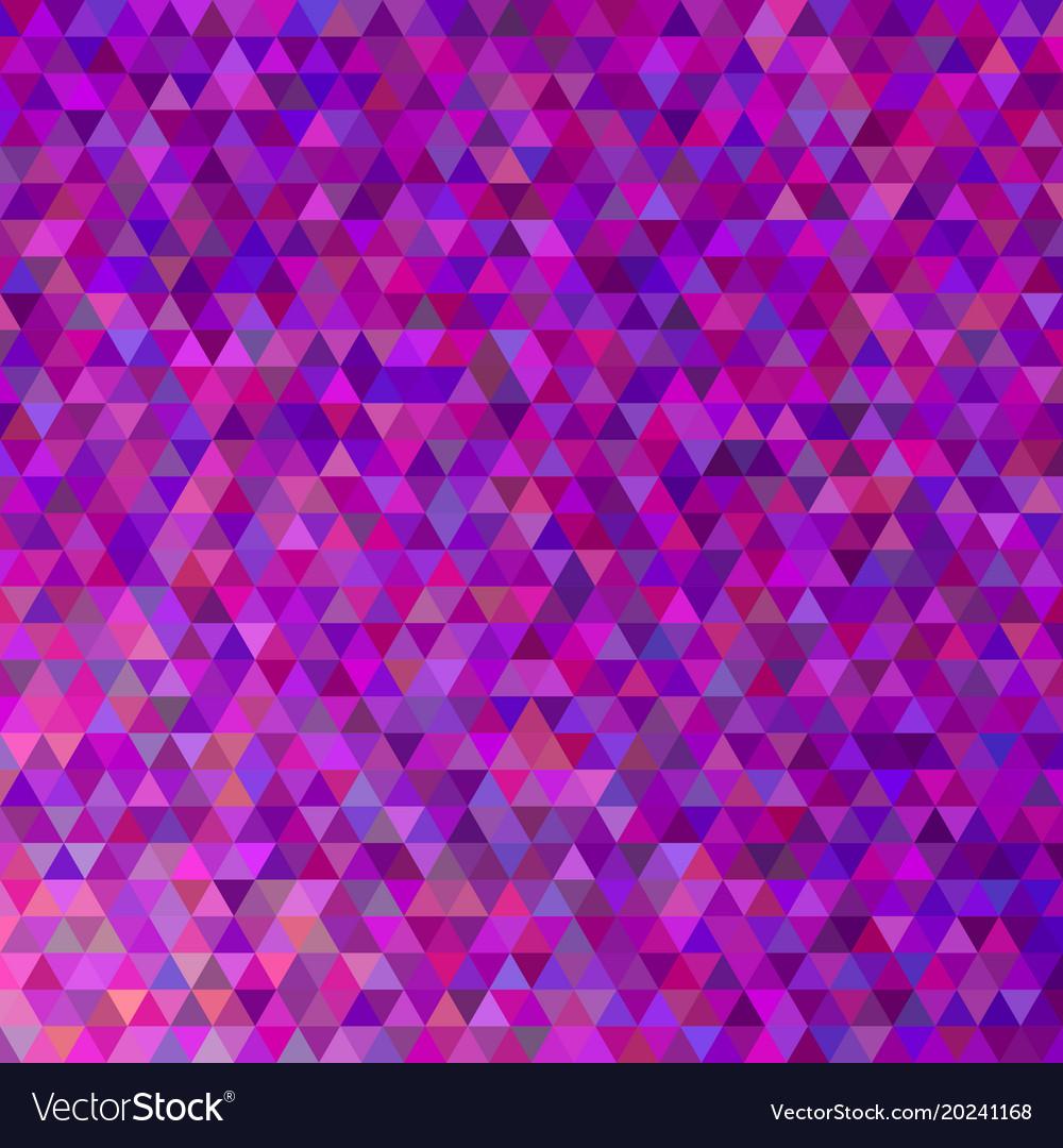 Purple geometric polygonal triangle pattern vector image