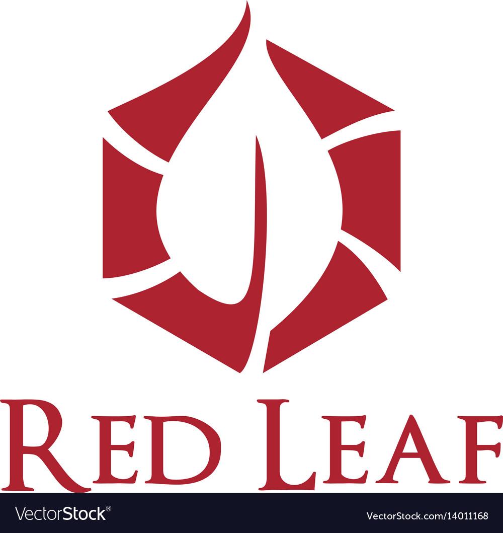 Red leaf logo design