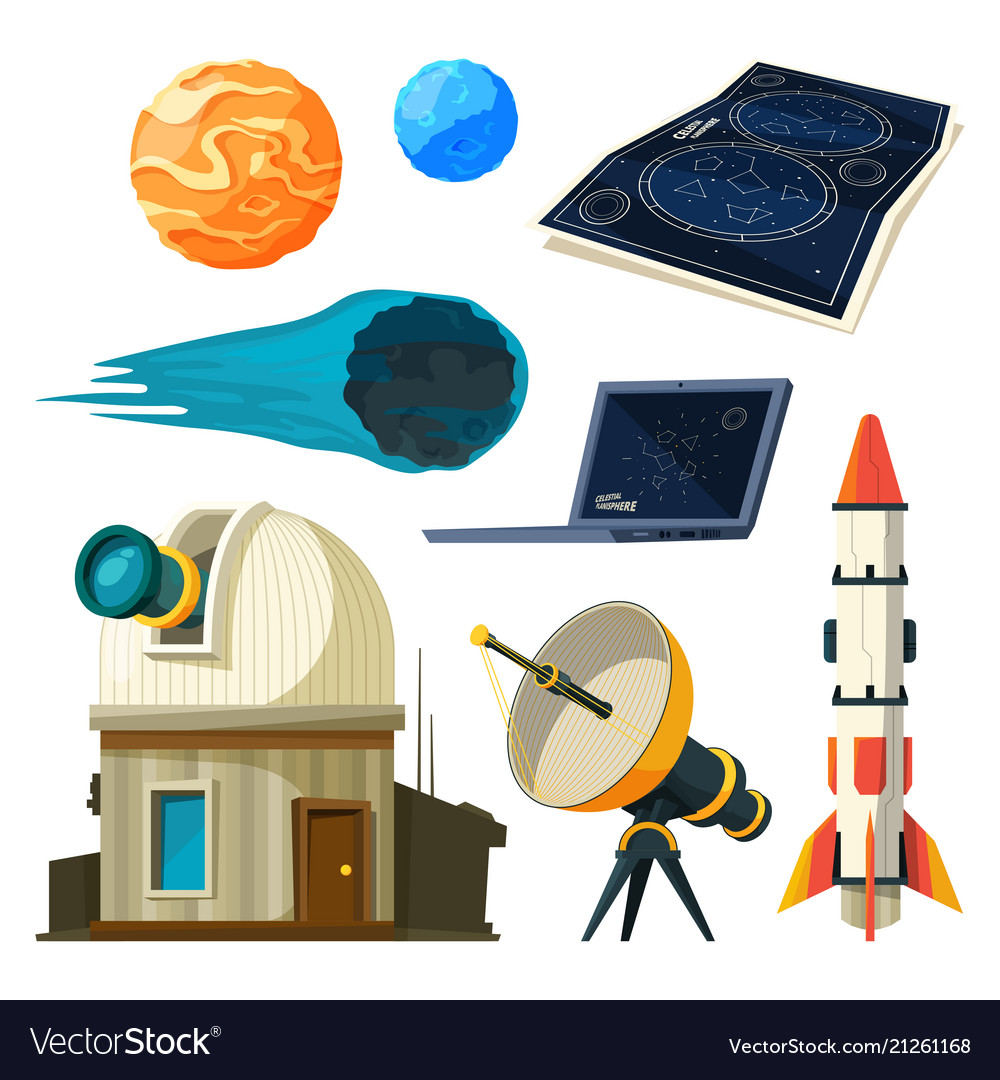 Science astronomy pictures set various