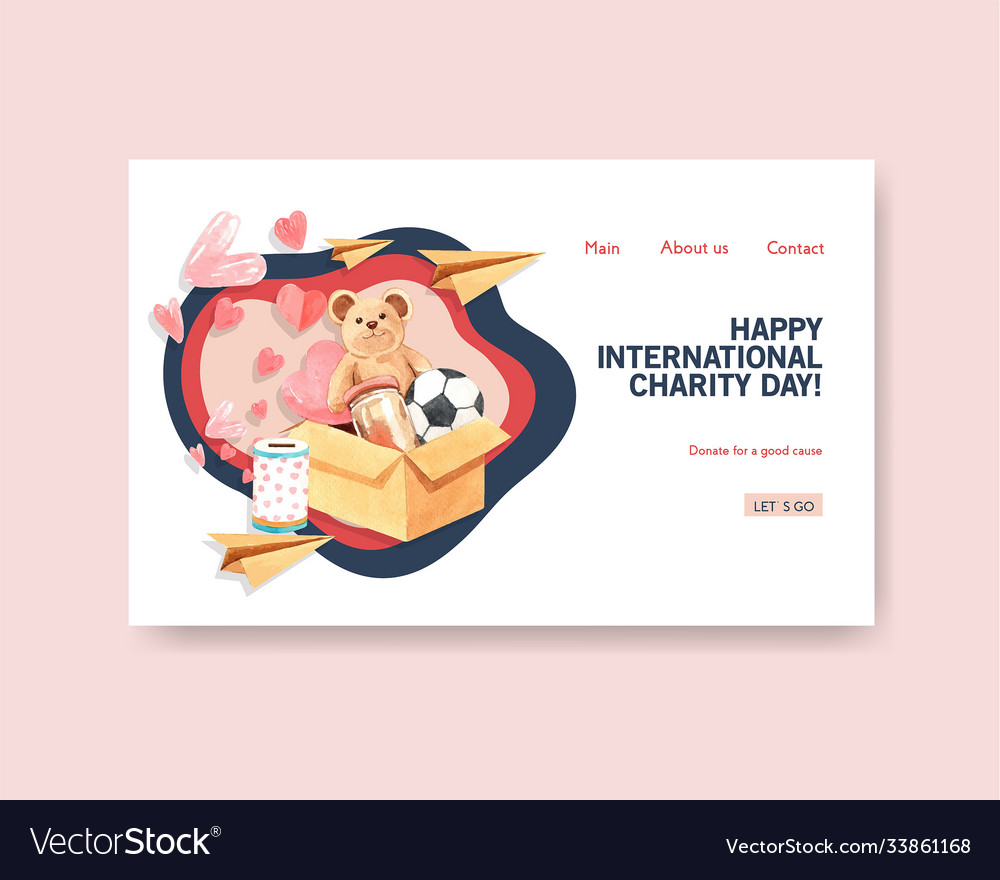 Website template with international day