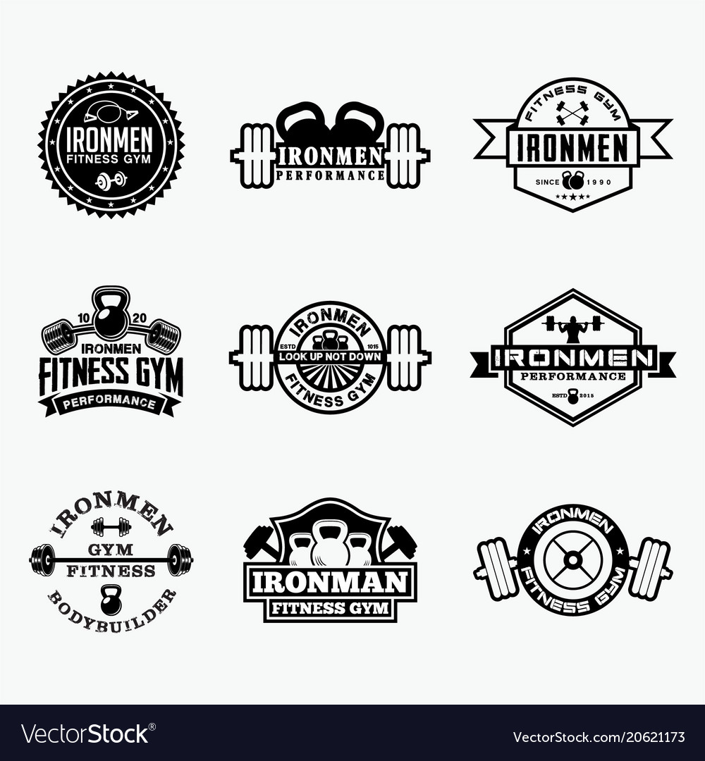 Fitness badge 3 vector image