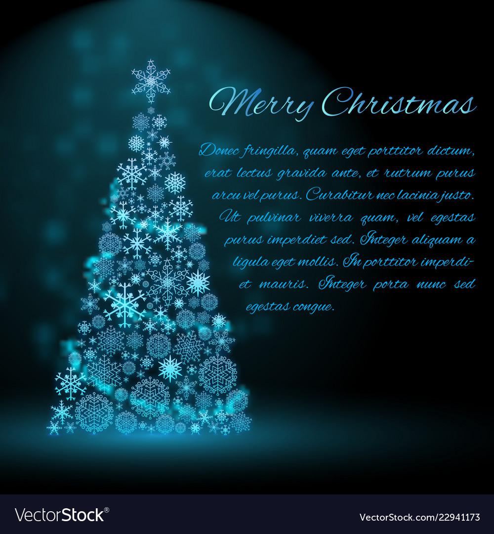Holiday christmas tree background