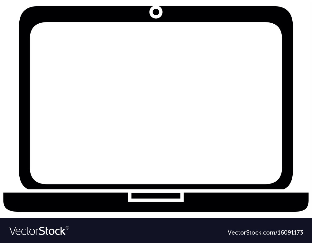 isolated pc laptop royalty free vector image vectorstock