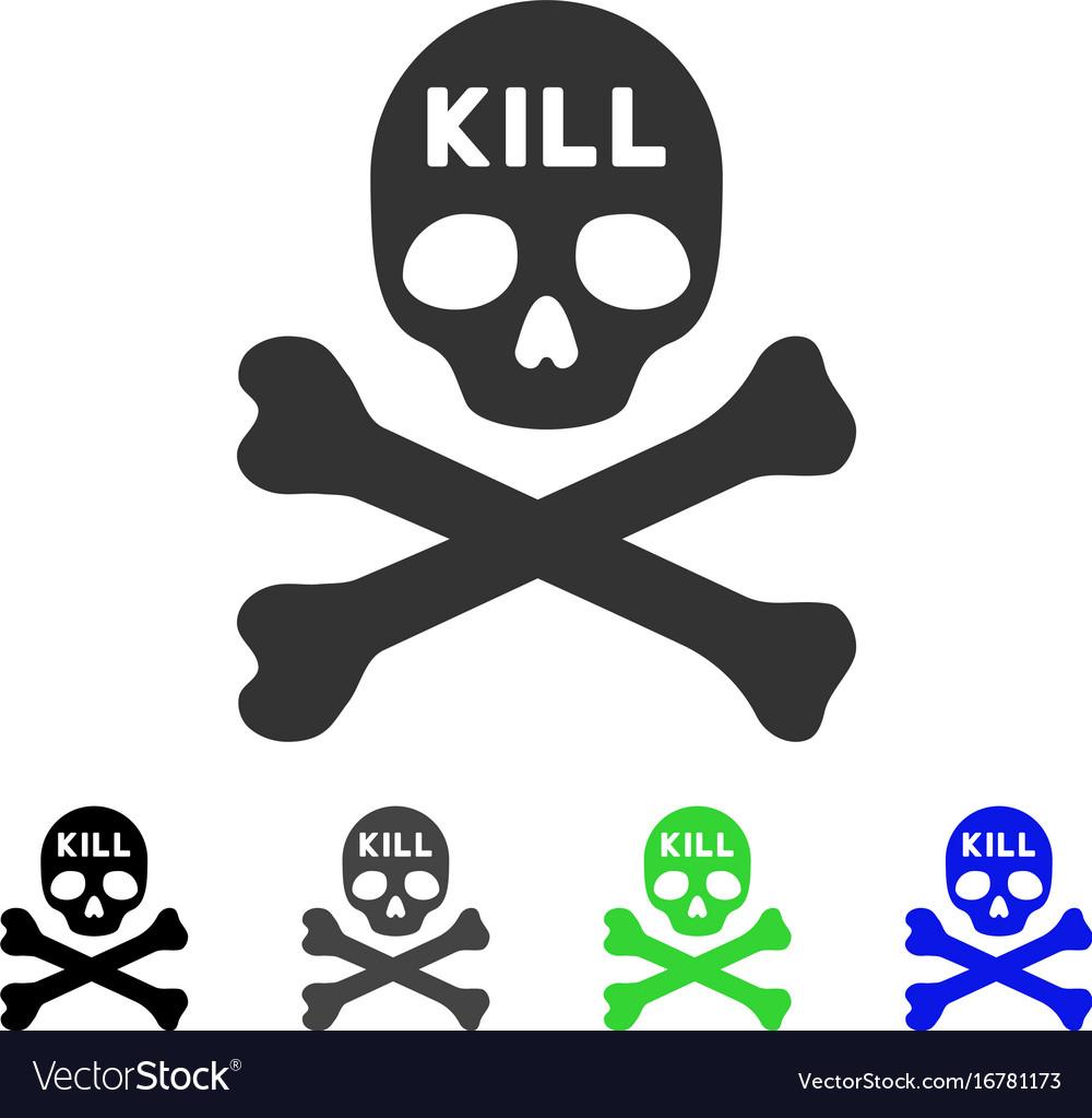 Kill death flat icon vector image