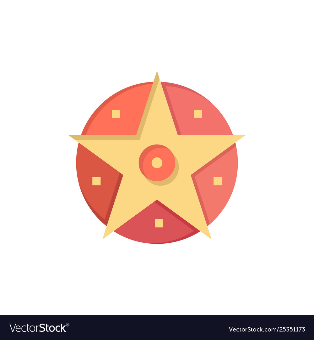 Pentacle satanic project star flat color icon