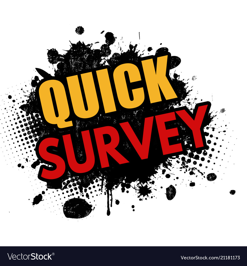 quick survey grunge rubber stamp royalty free vector image