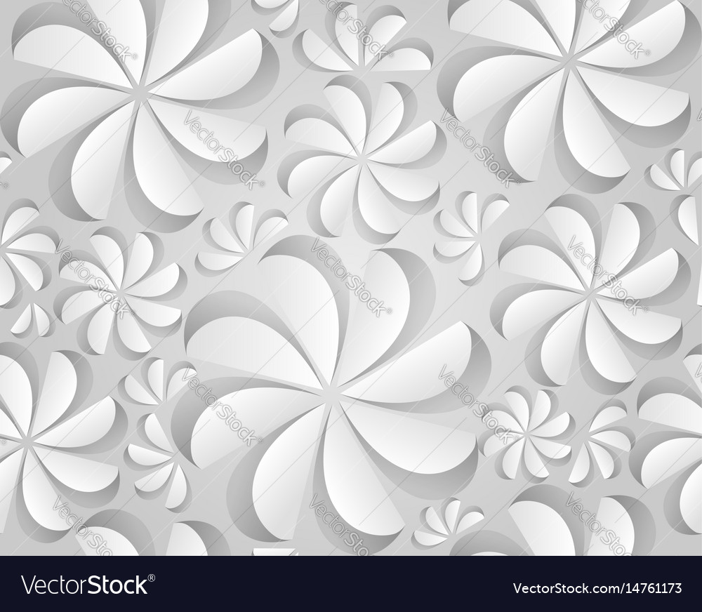 Seamless texture with paper flowers