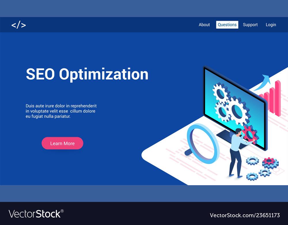 Seo optimization 3d lp template