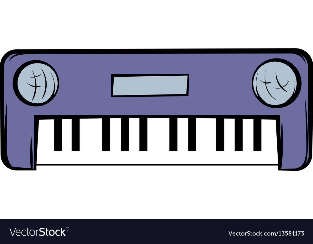 Synthesizer Icon Cartoon Royalty Free Vector Image