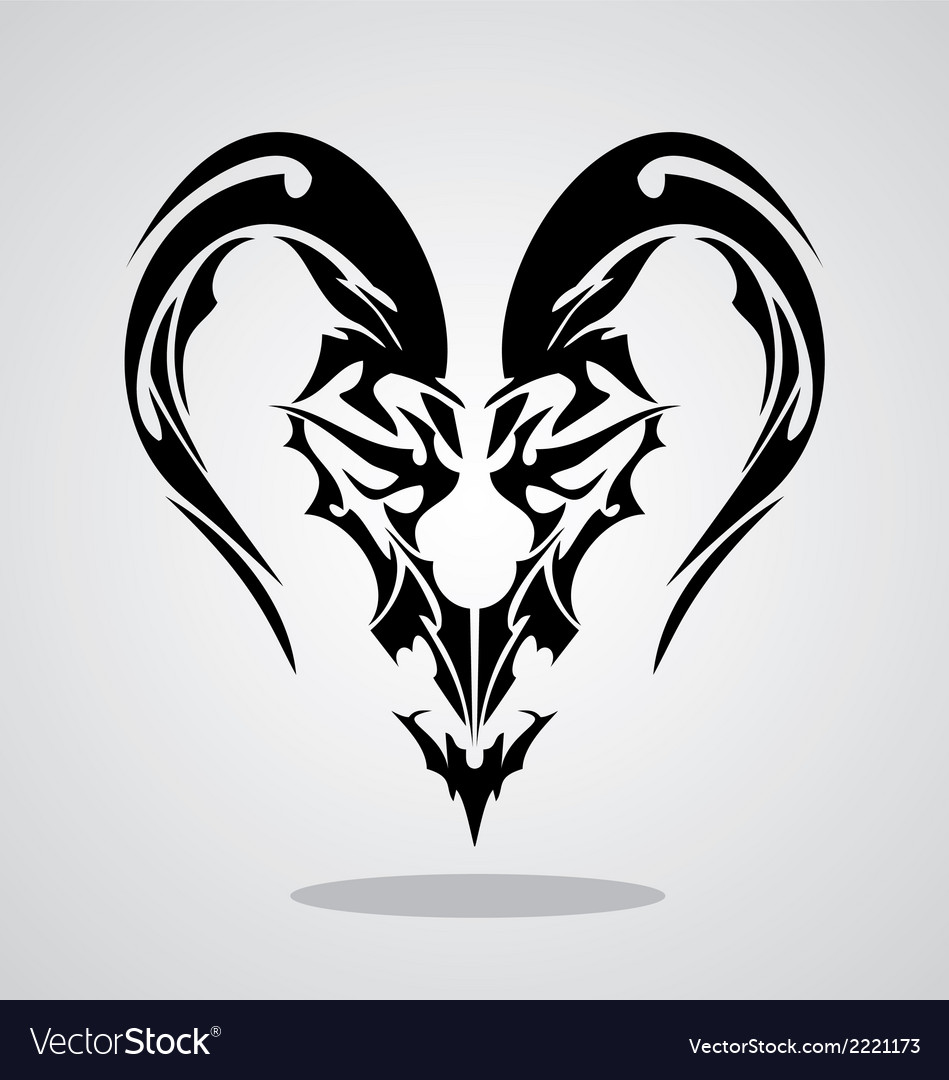Tribal Capricorn Sign Royalty Free Vector Image