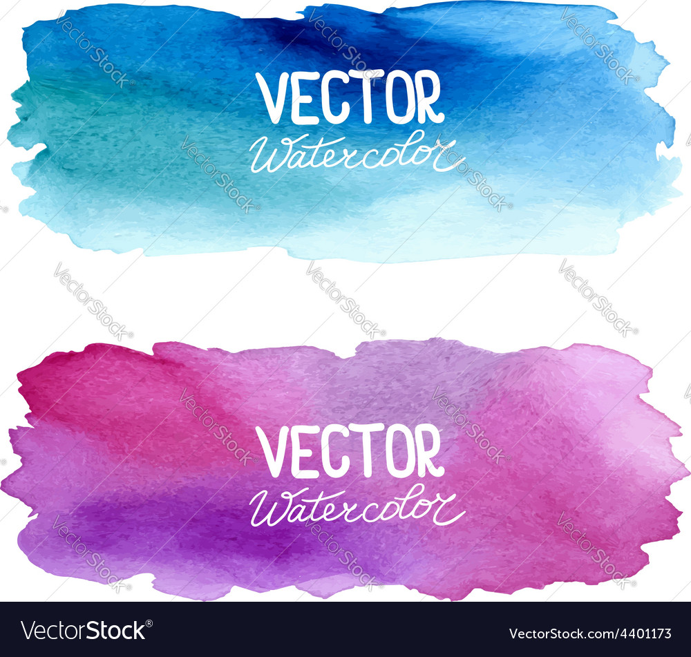 Watercolor banners abstract background