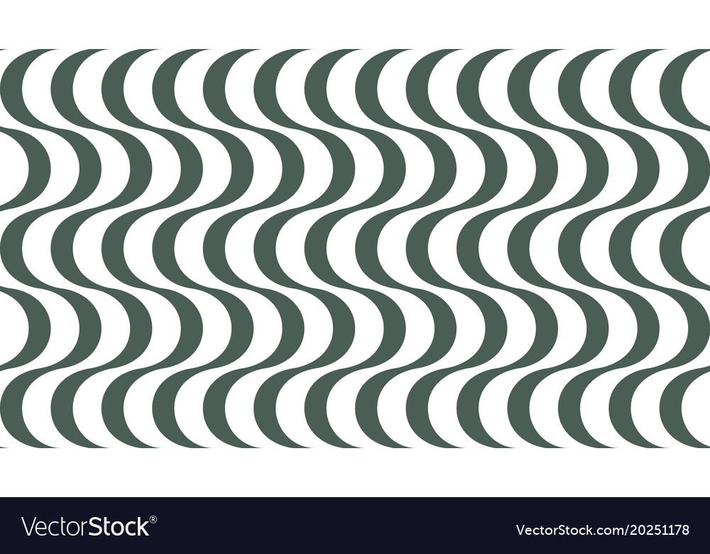 Fashionable geometric wavy striped background