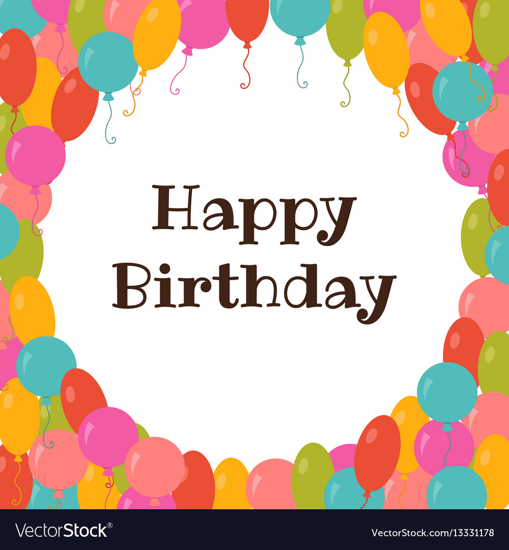 Happy birthday card template with colorful vector image thecheapjerseys Gallery