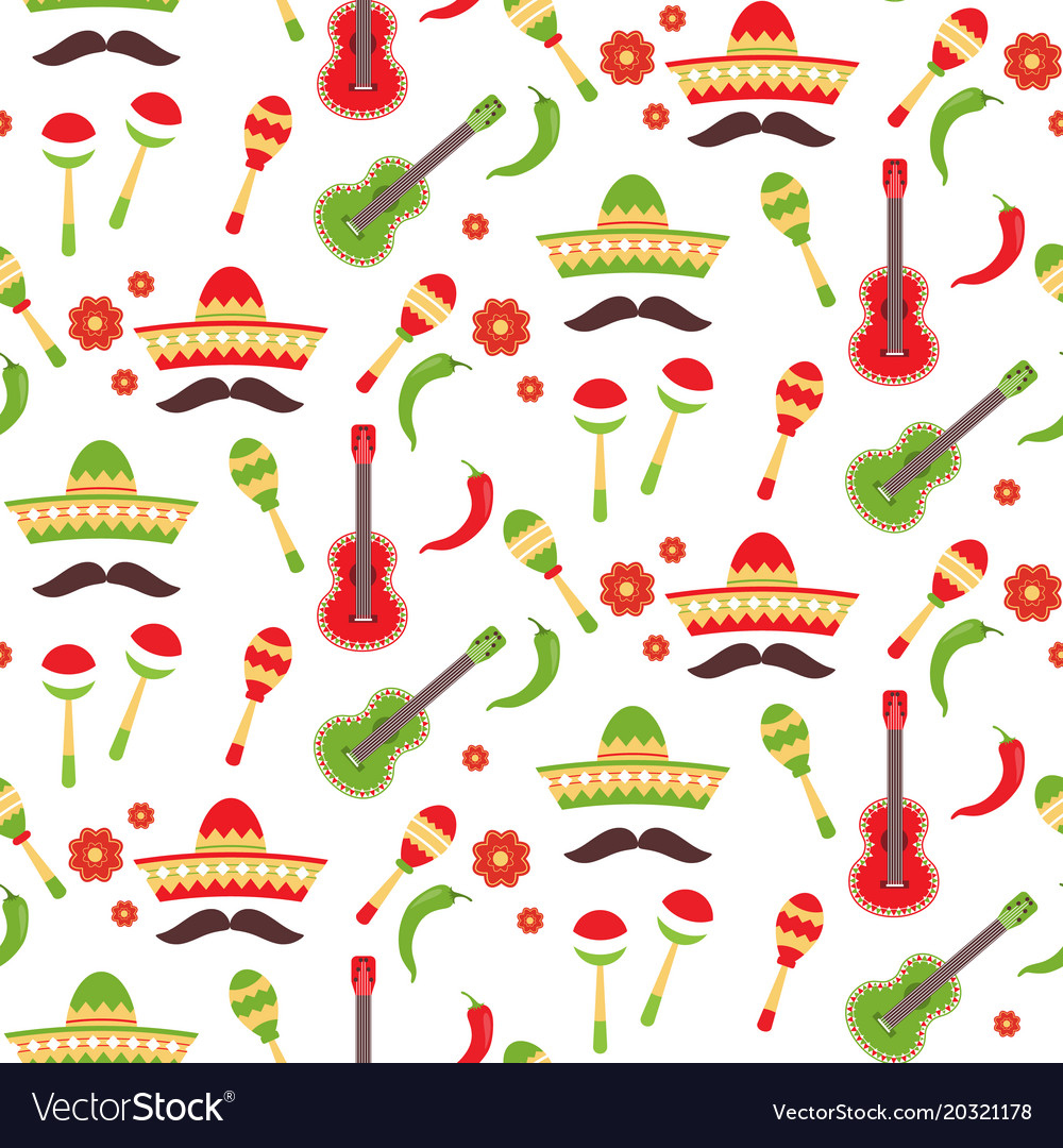 Mexican repeating seamless pattern cinco de mayo