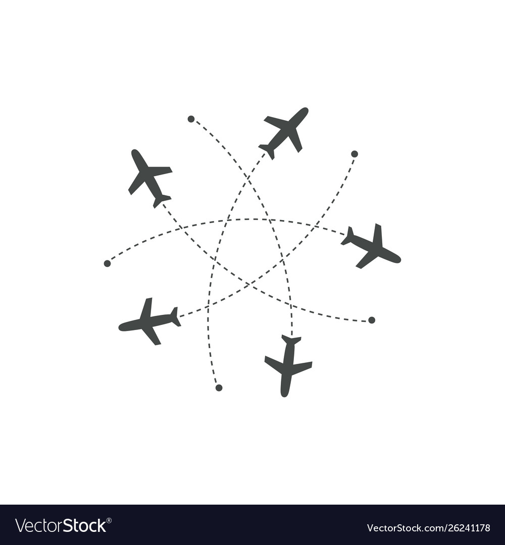 Planes flying with trace in different directions