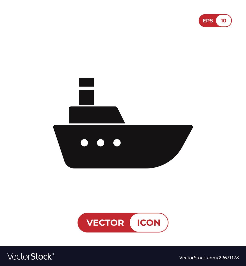 Sea ship icon