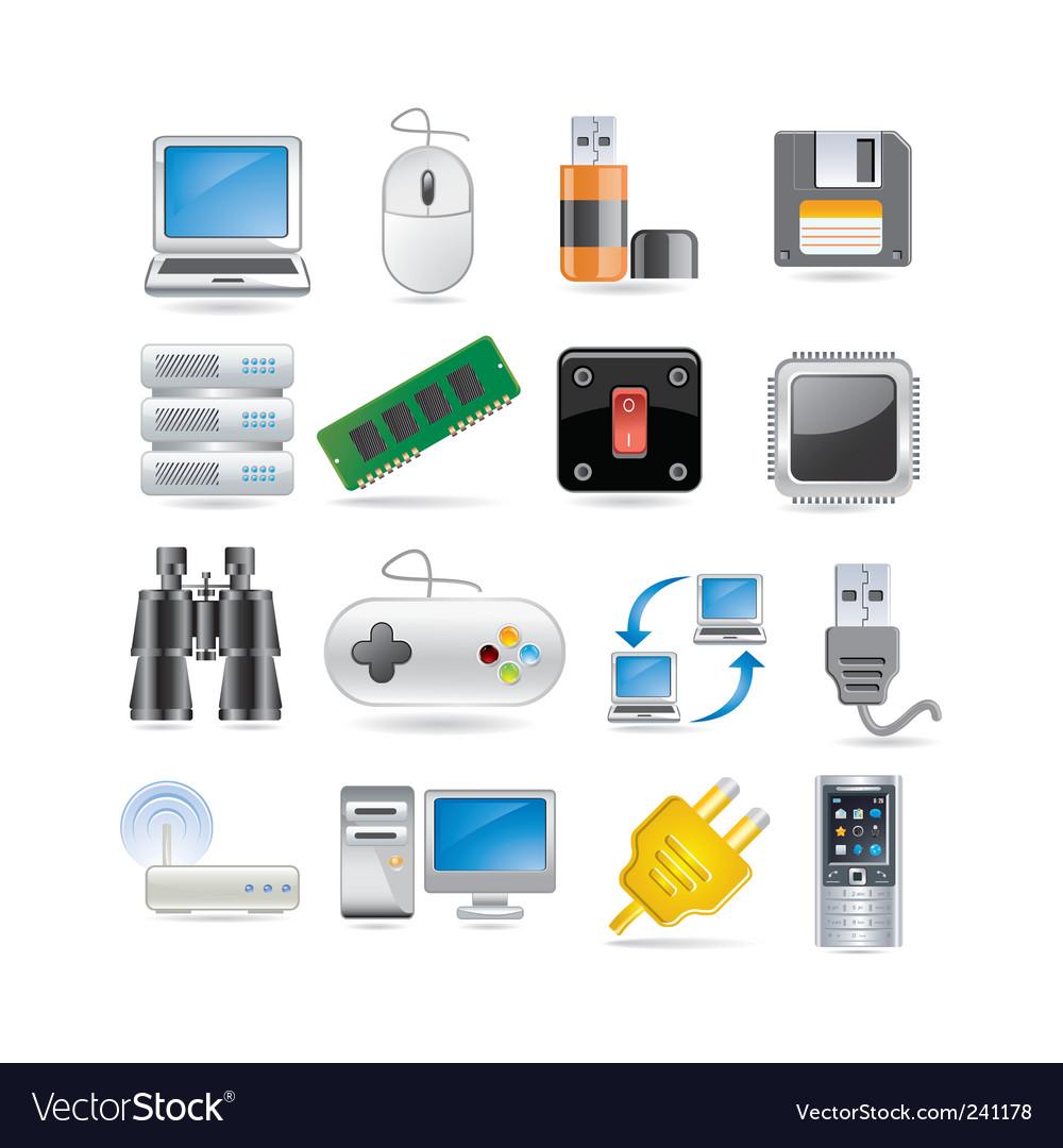 Tech vector image