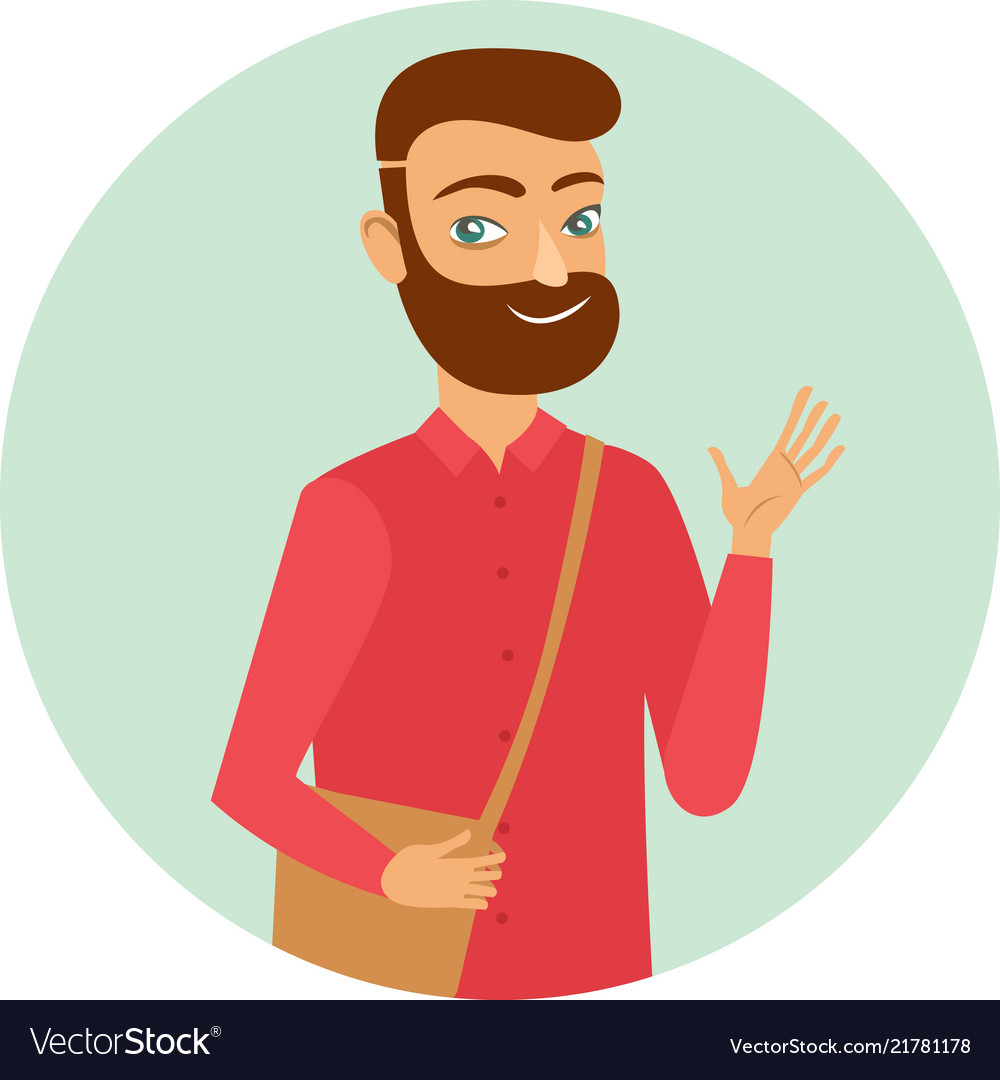 Young ginger bearded guy character