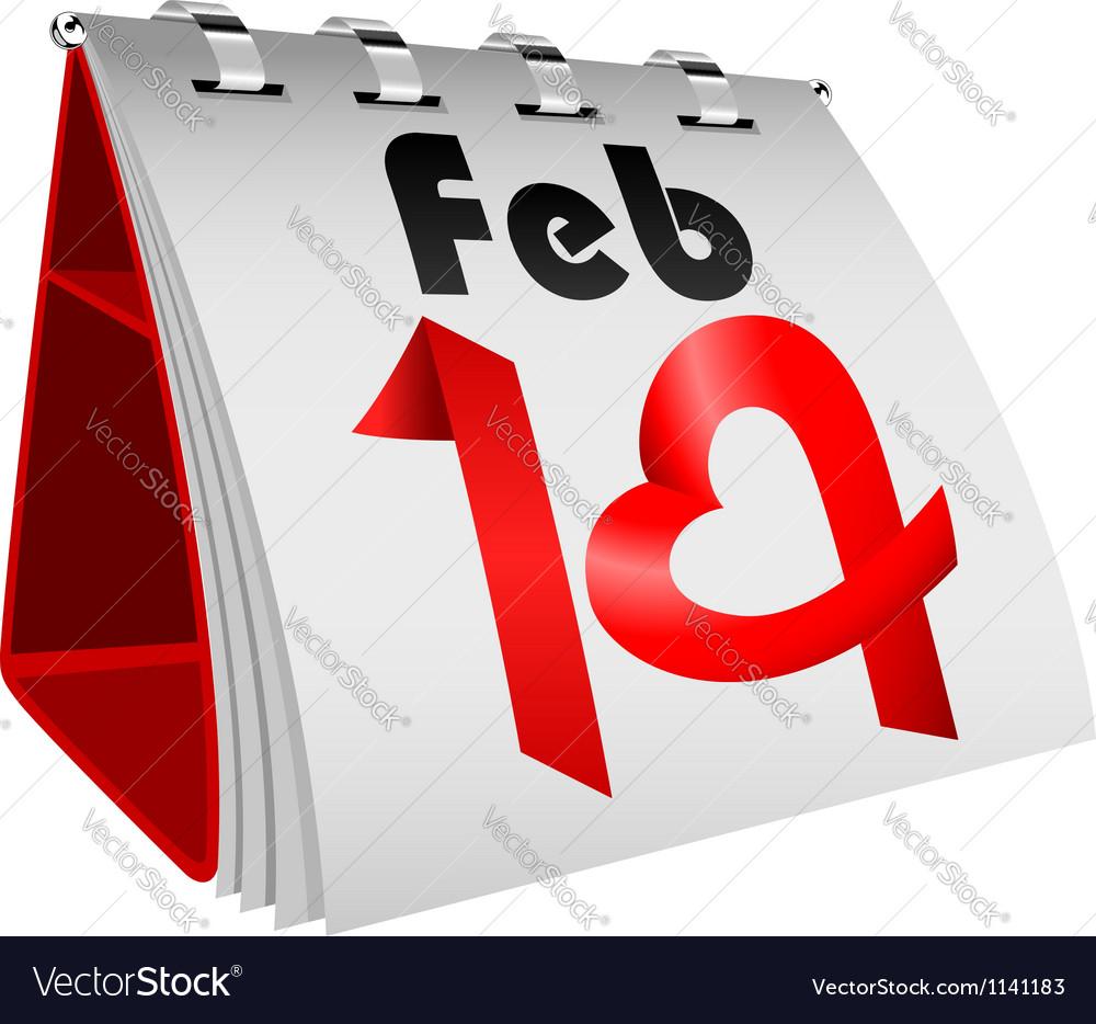 14 February Table Calendar