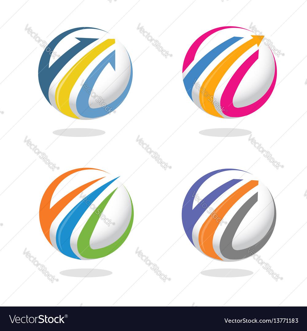 Arrow and finance marketing logo concept