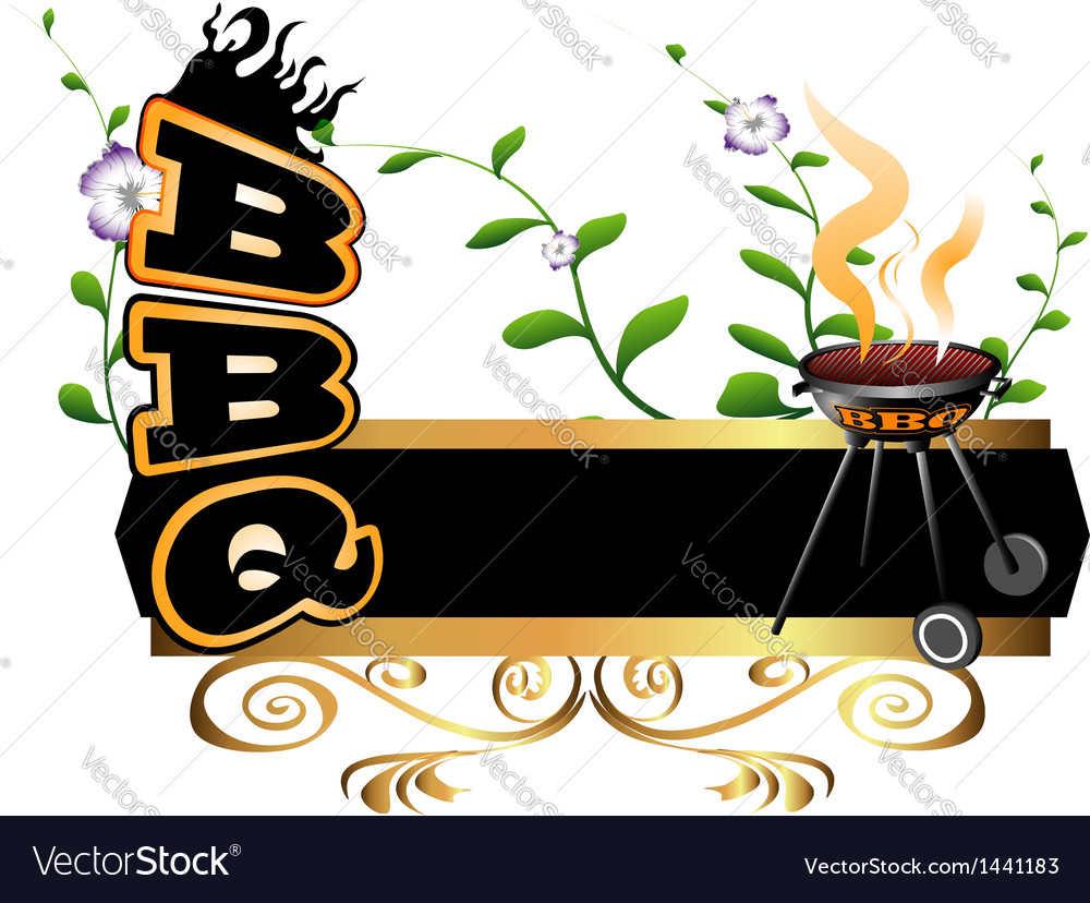 BBQ background vector image