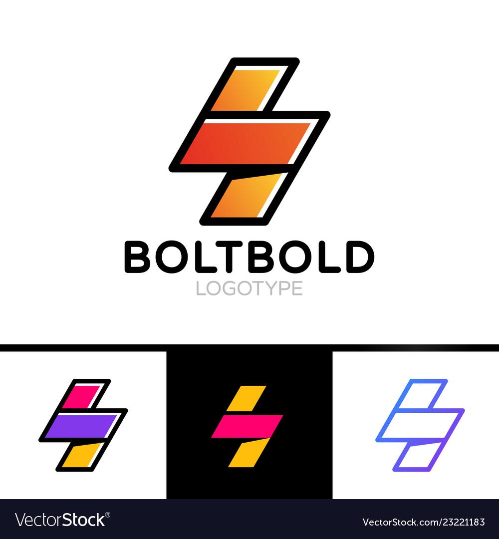 Electrical logo concept lightning bolt minimal