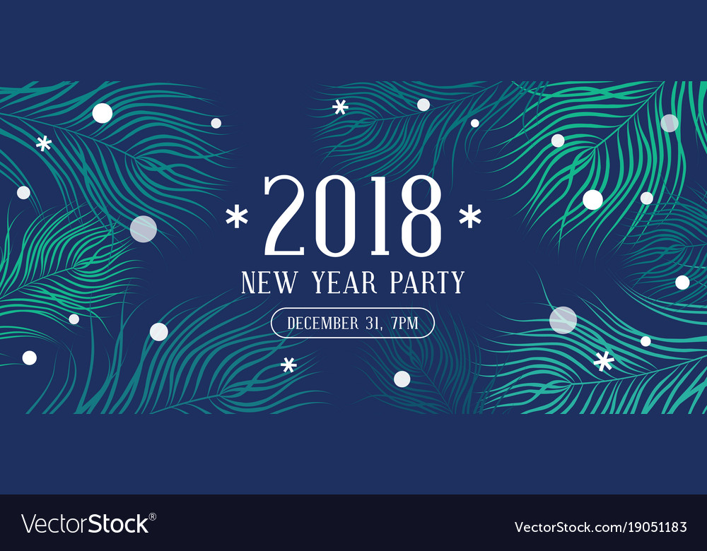 happy new year 2018 party invitation vector image