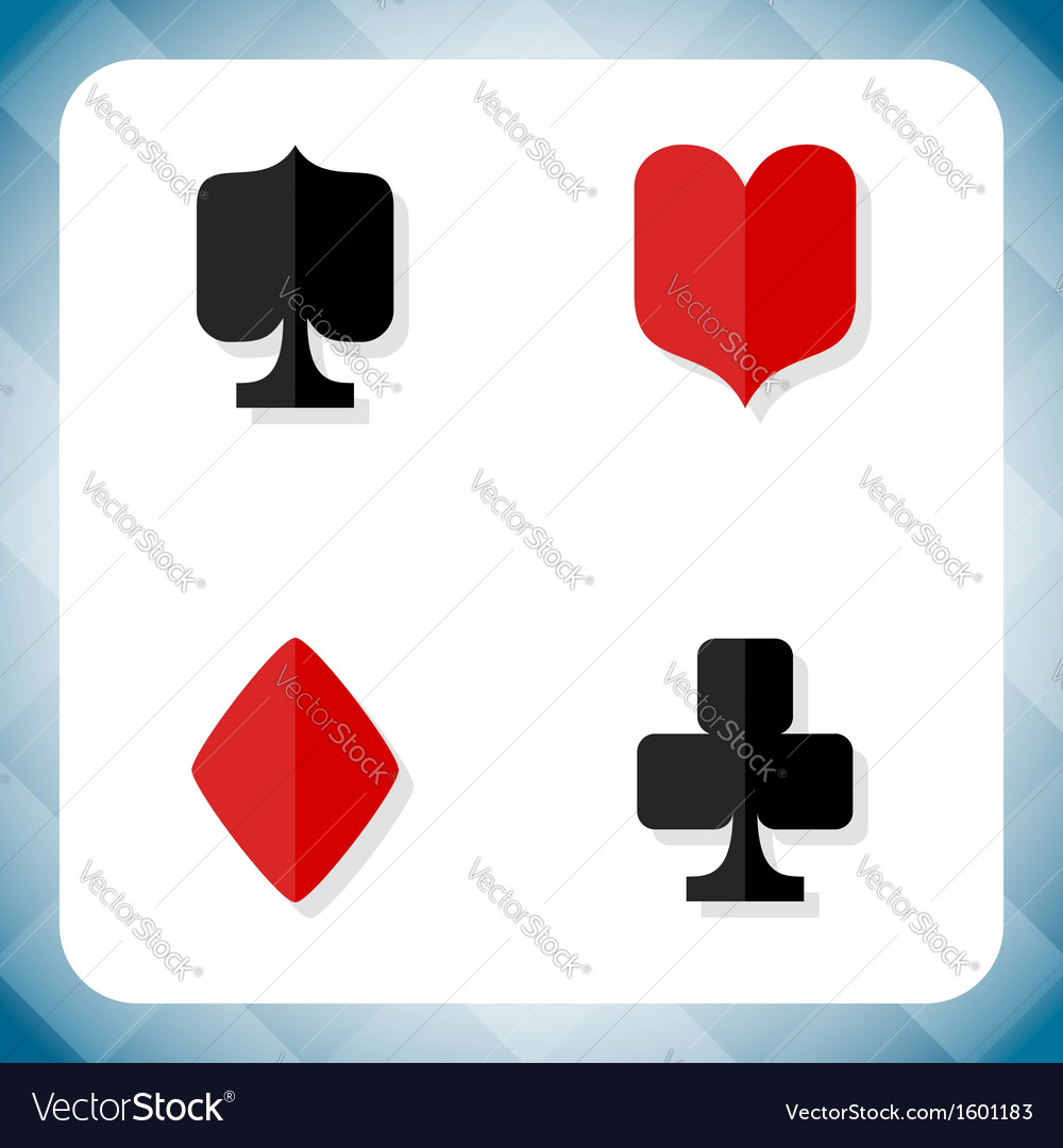 Icons with card suits