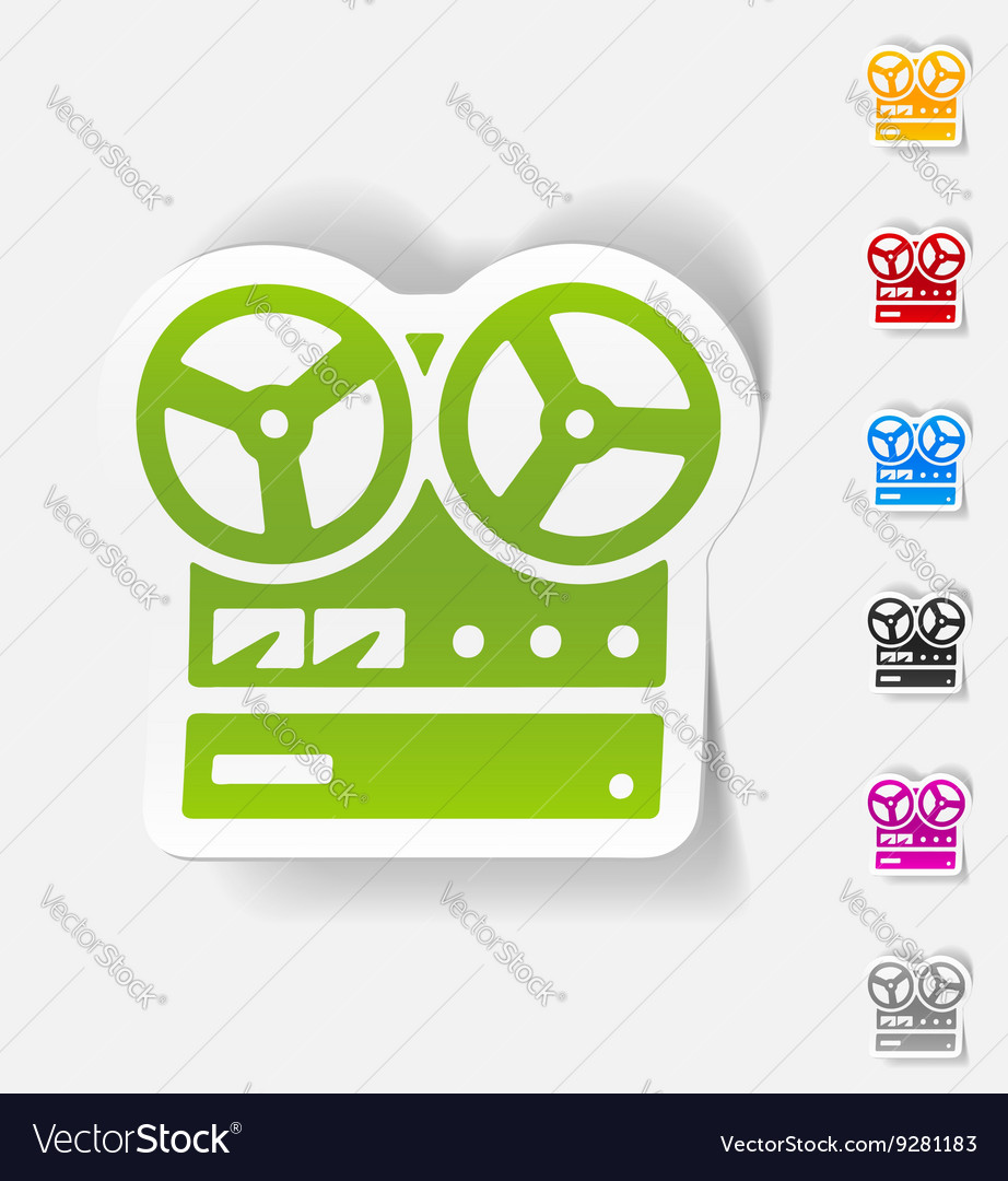 Realistic design element stereo recorder vector image