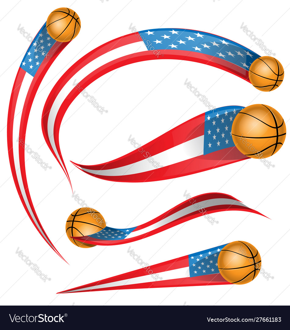 Usa flag element with soccer ball