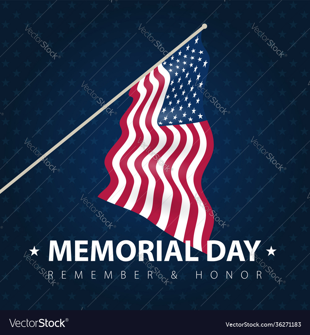 Usa poster card to celebrate memorial day