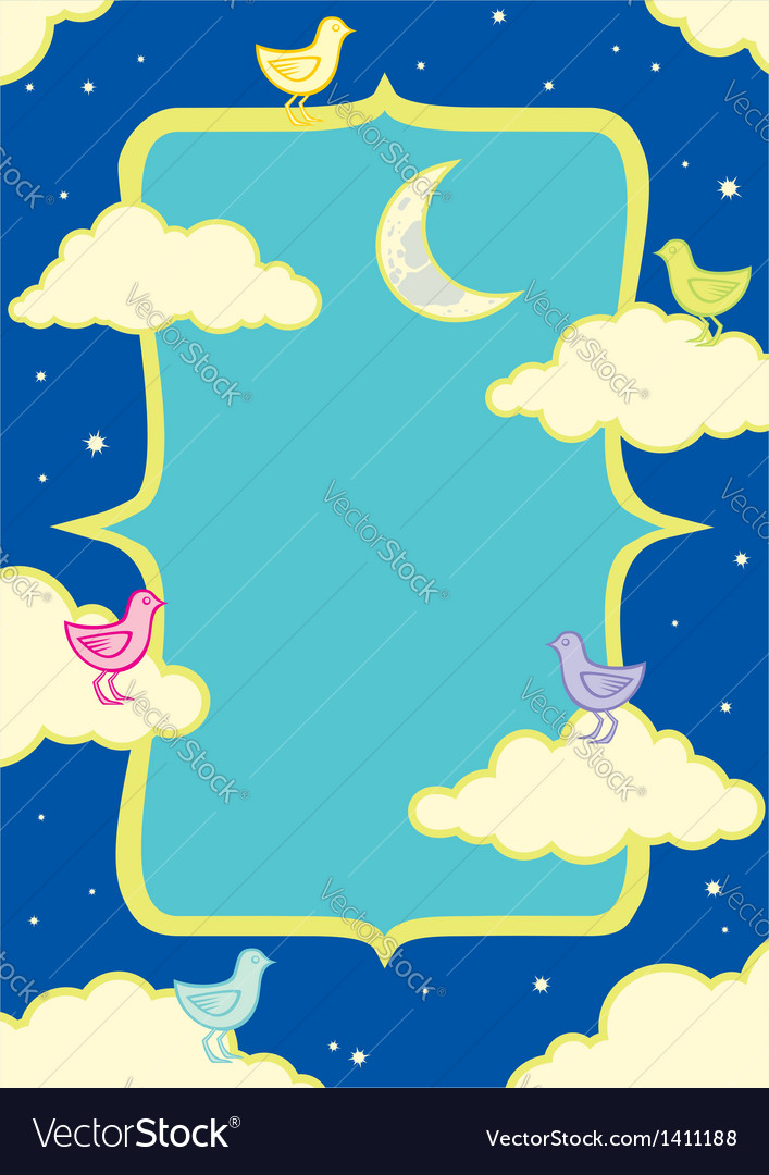 Birds in the clouds vector image