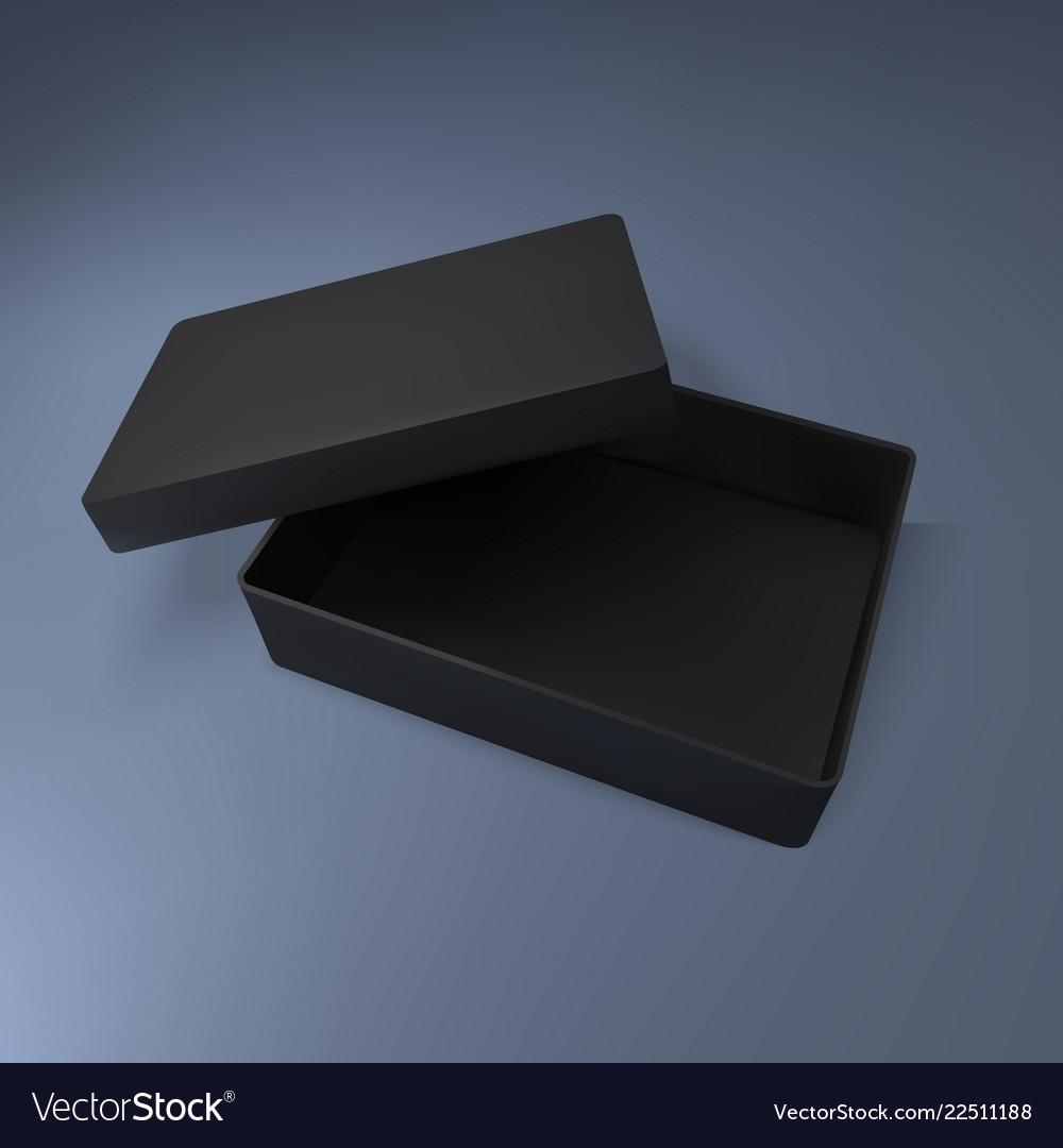 Black Box Mockup Royalty Free Vector Image Vectorstock