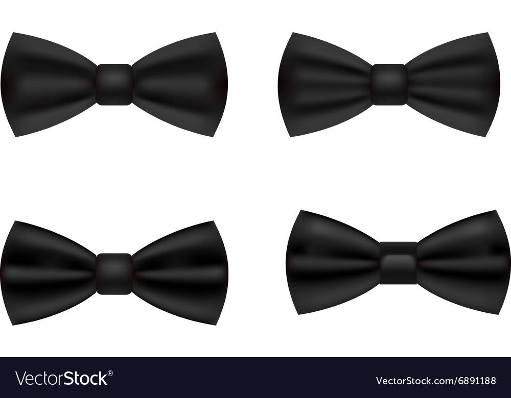 Black tuxedo bow ties