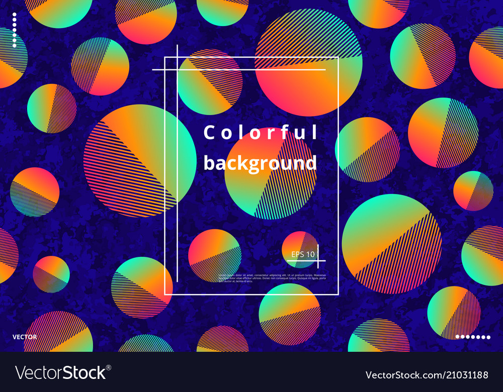 Colorful circles with gradient