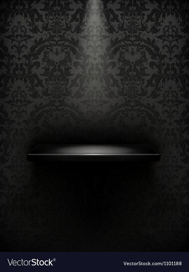 Empty shelf black luxury