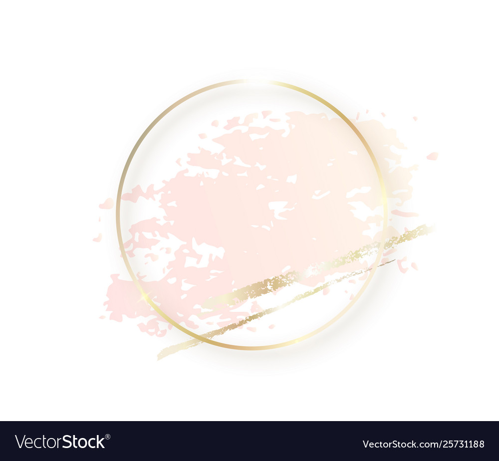 Gold circle frame with pastel nude pink texture