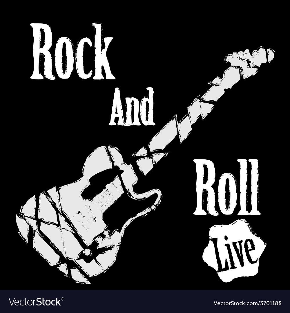 Rock guitar poster vector image
