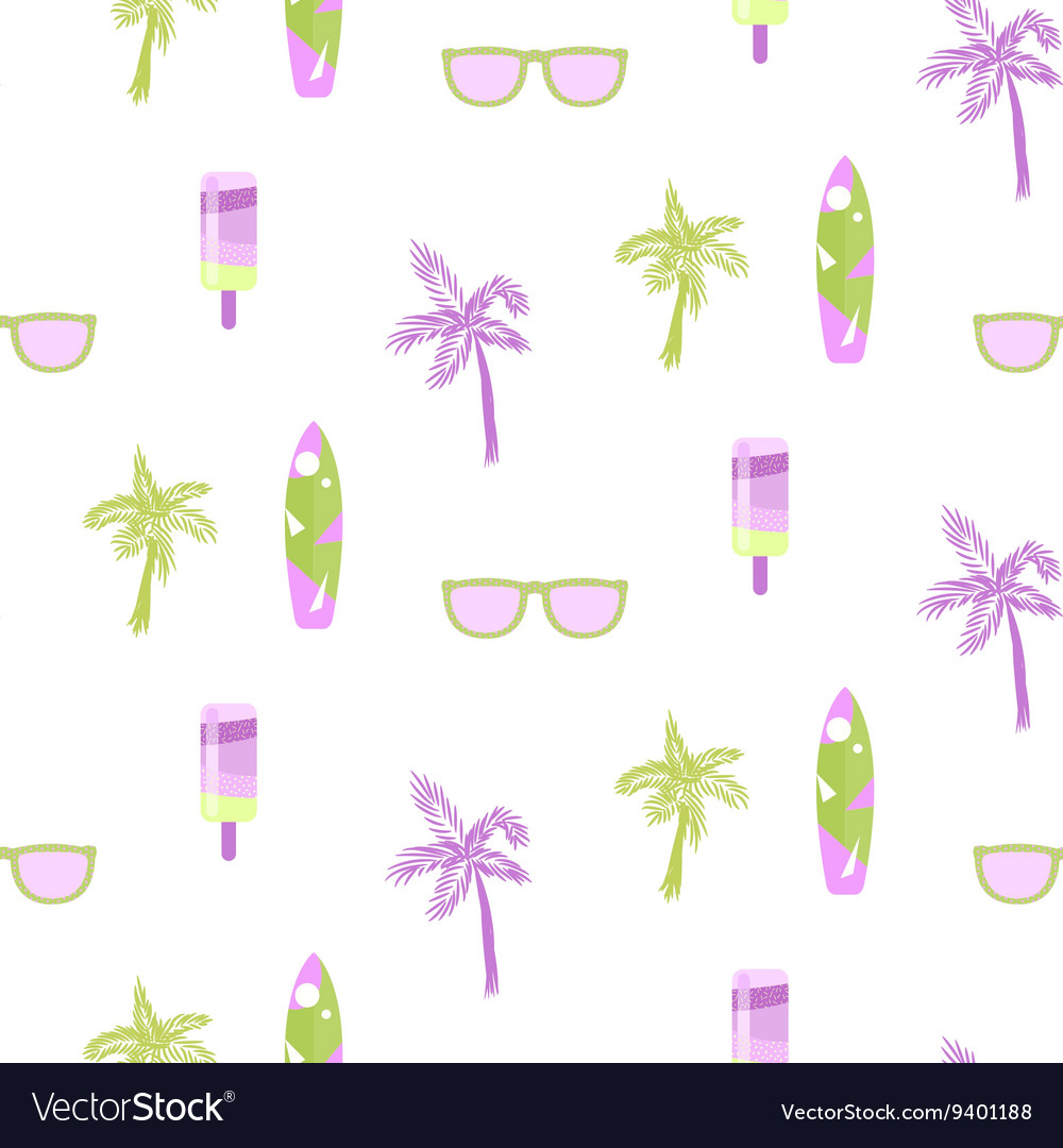 Summer beach party seamless pattern for cards or