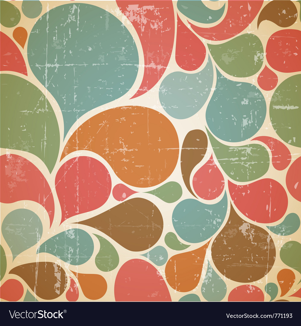 Abstract retro pattern vector image