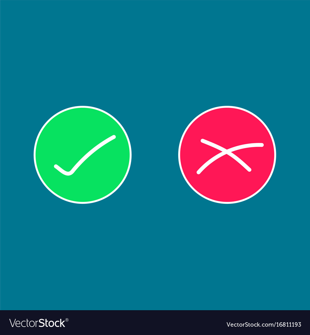 Circle icons were wrong green and red