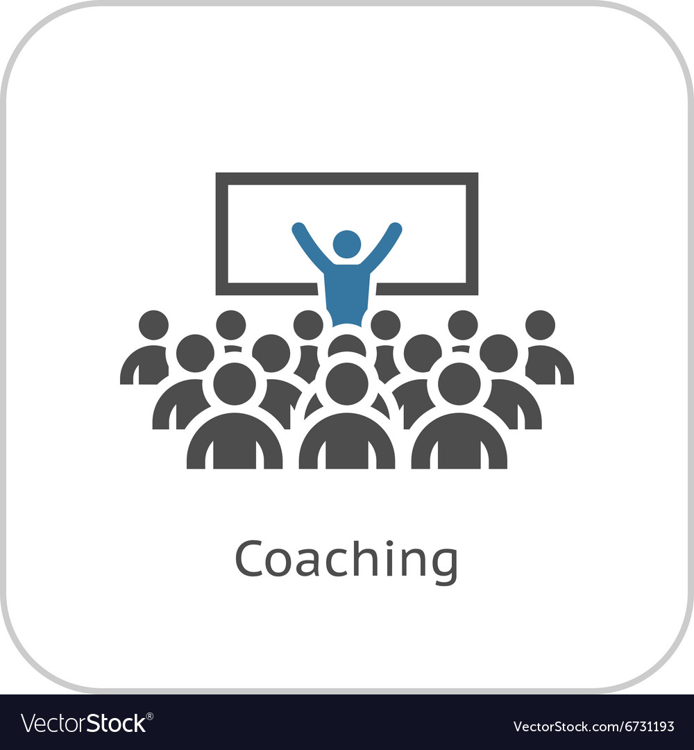 coaching icon business concept royalty free vector image