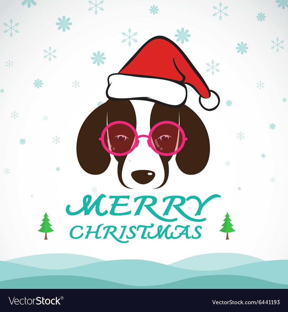 Dog merry christmas
