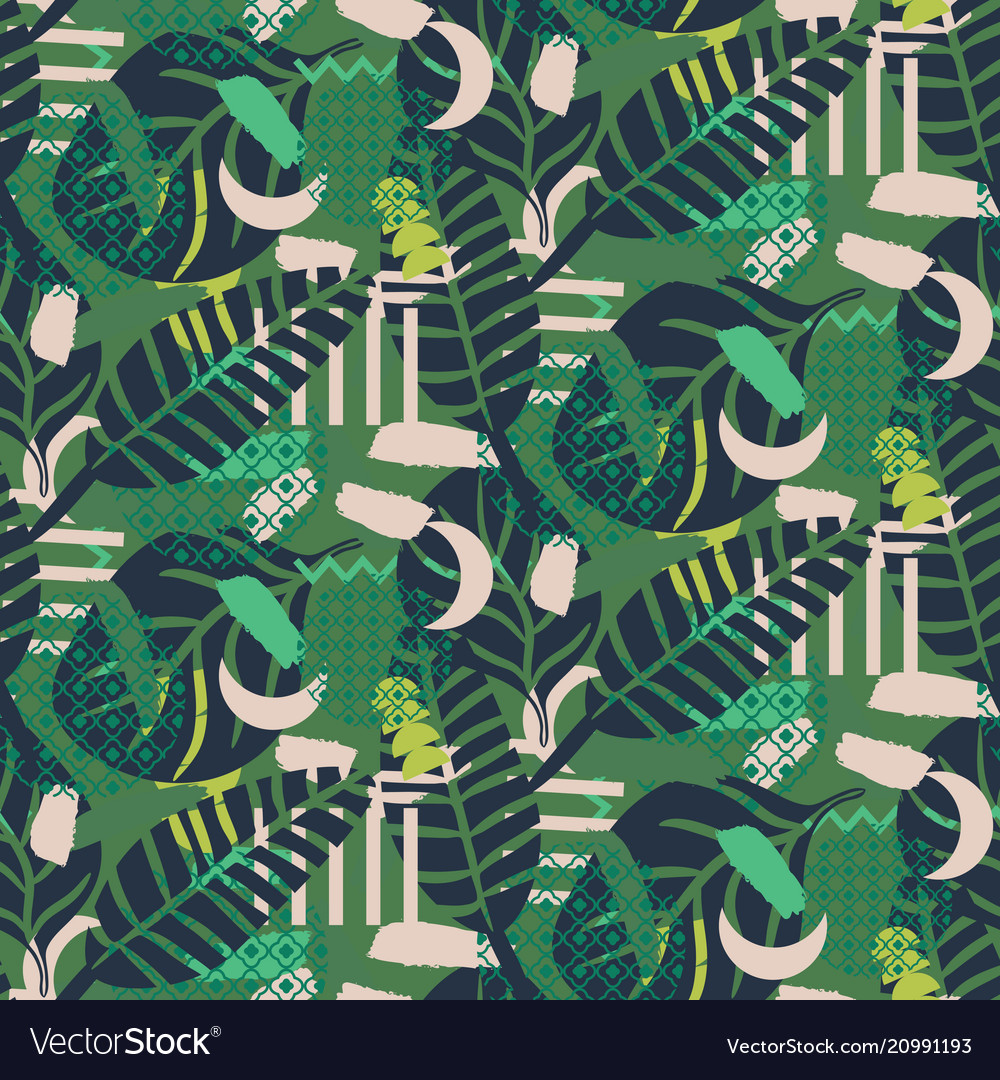 Jungle pattern green abstract textured