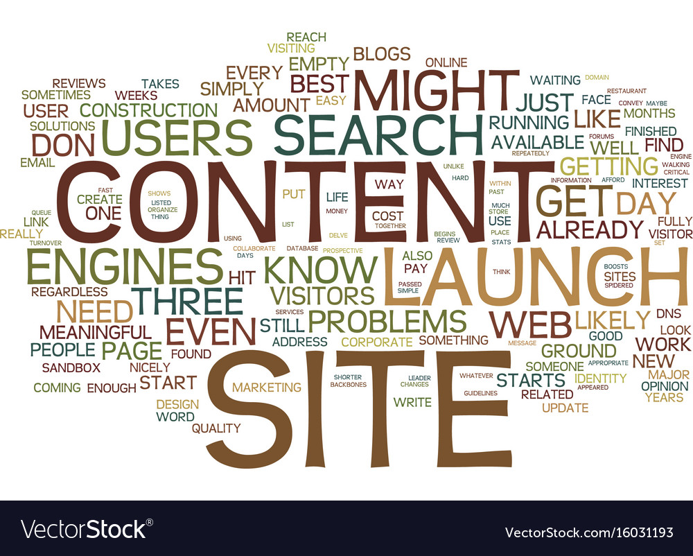 Launch your site before it is finished text