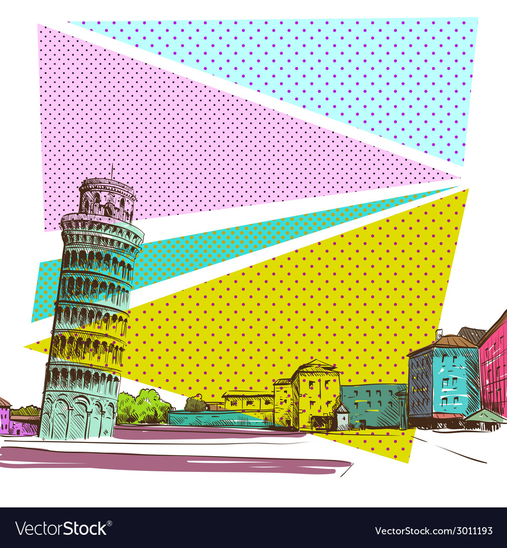 Pisa cityscape drawing