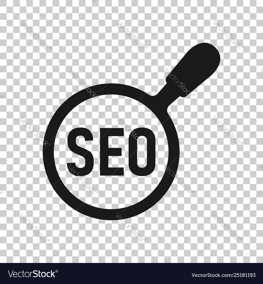 Seo analytics icon in transparent style social