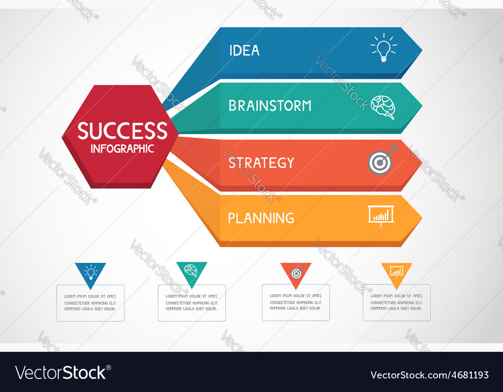 Successful business concept infographic template vector image cheaphphosting Images