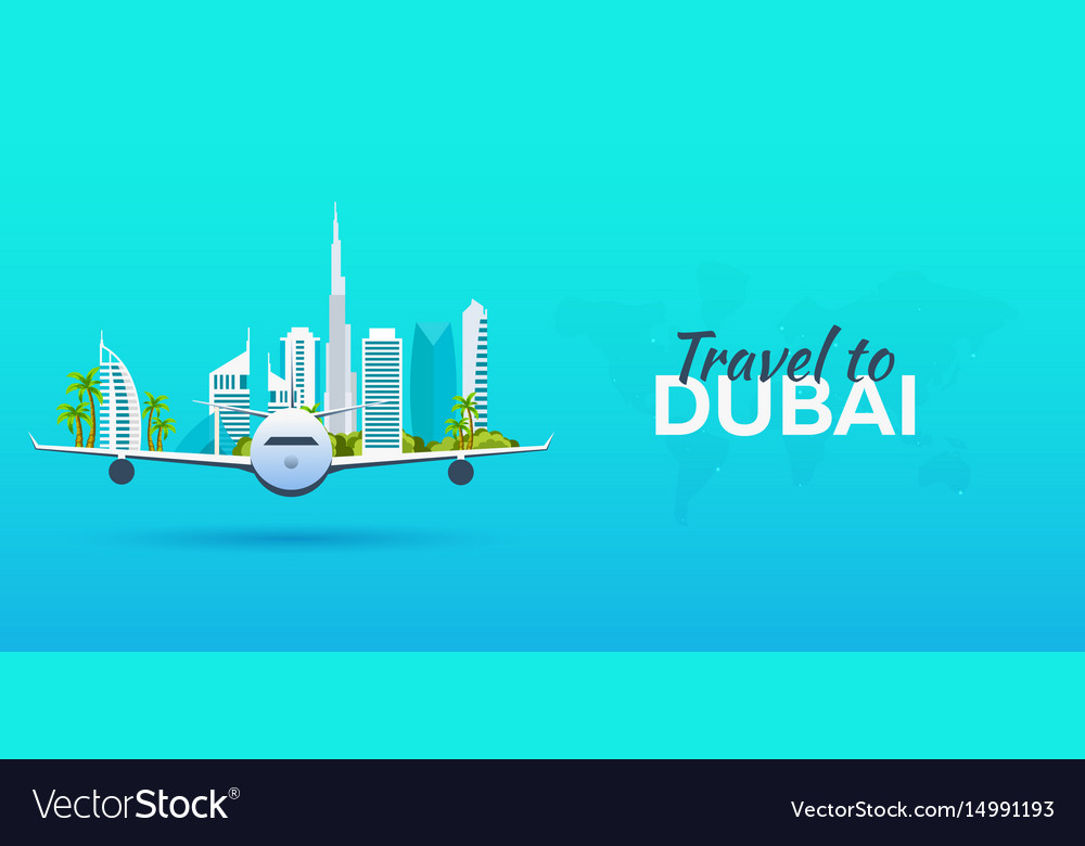 Travel to dubai airplane with attractions travel
